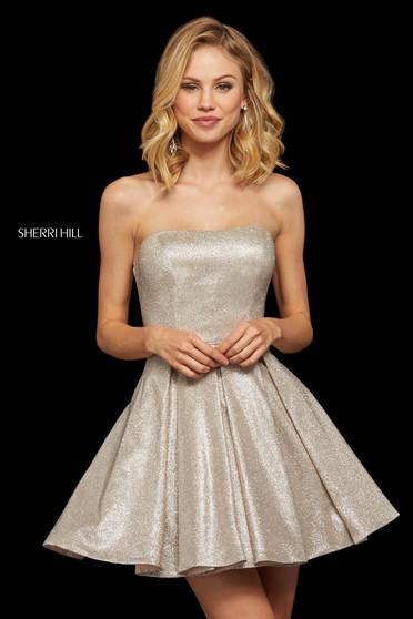 Rochie Sherri Hill 52971 nude/silver
