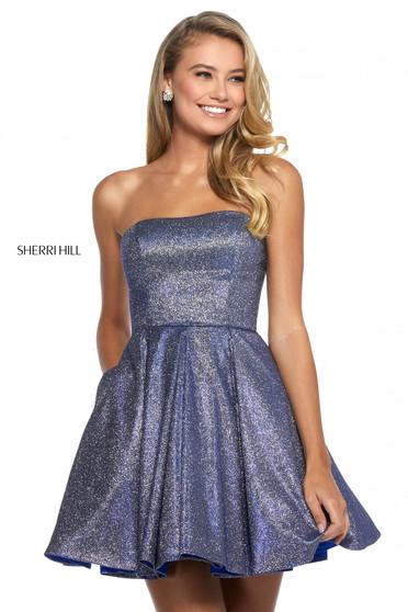 Rochie Sherri Hill 52971 royal/silver