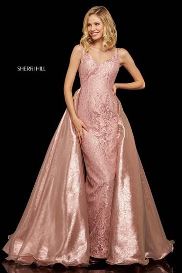 Rochie Sherri Hill 52975 blush