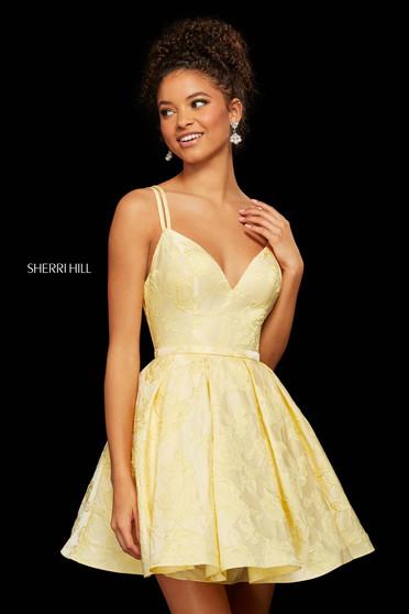 Rochie Sherri Hill 52983 yellow