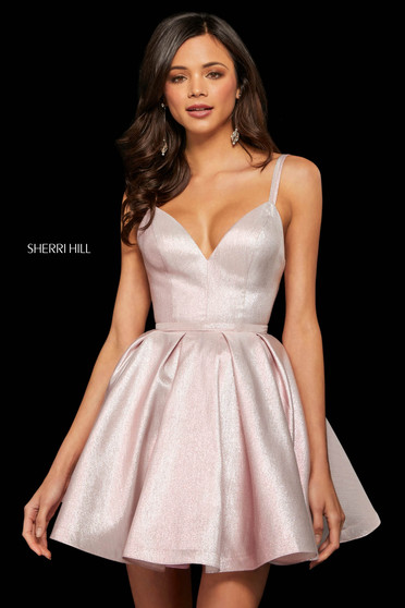 Rochie Sherri Hill 52985 pink