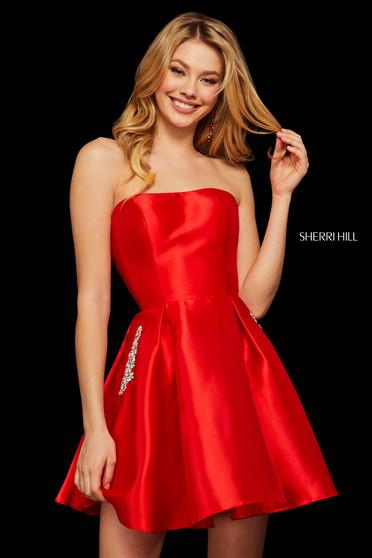 Rochie Sherri Hill 52989 red
