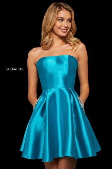 Rochie Sherri Hill 52989 turquoise
