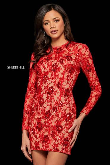 Rochie Sherri Hill 52990 red