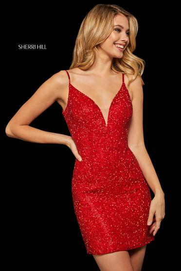 Rochie Sherri Hill 52991 red