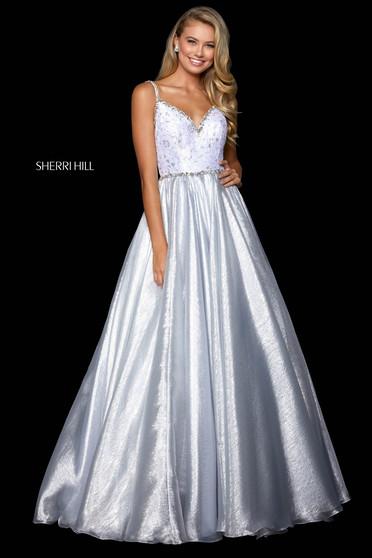Rochie Sherri Hill 52994 silver