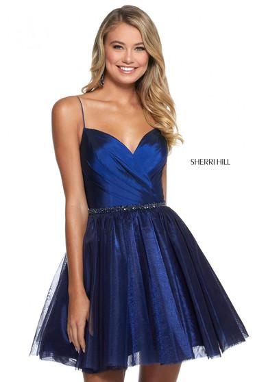 Rochie Sherri Hill 53003 navy