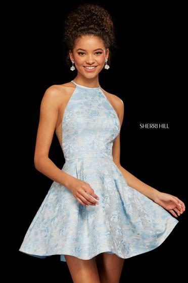 Rochie Sherri Hill 53022 blue print