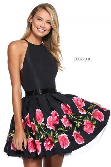 Rochie Sherri Hill 53023 black/fuchsia