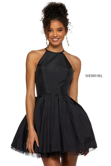 Rochie Sherri Hill 53025 black