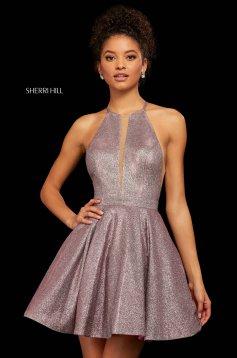 Rochie Sherri Hill 53027 fuchsia/silver