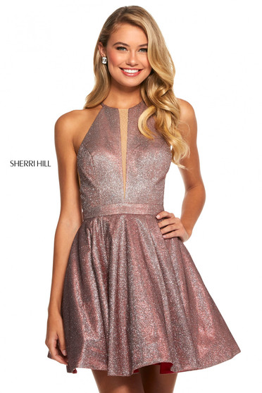Rochie Sherri Hill 53027 red/silver