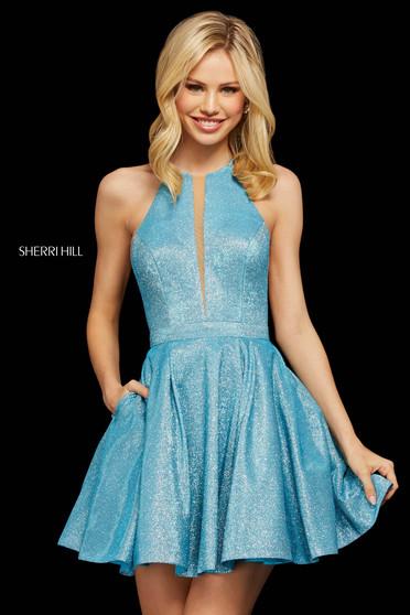 Rochie Sherri Hill 53027 turq/silver