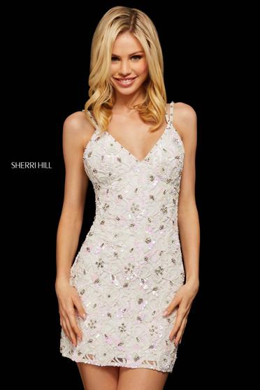 Rochie Sherri Hill 53053 ivory