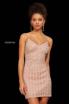 Rochie Sherri Hill 53060 blush