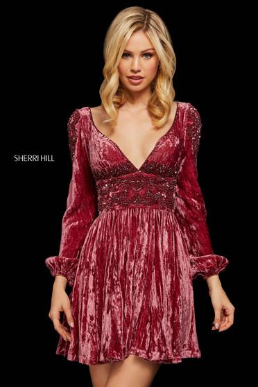 Rochie Sherri Hill 53063 rose