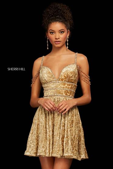 Rochie Sherri Hill 53065 gold