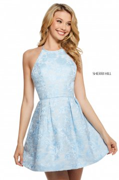 Rochie Sherri Hill 53072 light blue