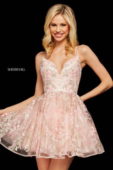 Rochie Sherri Hill 53074 pink