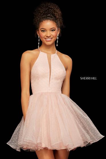 Rochie Sherri Hill 53075 pink