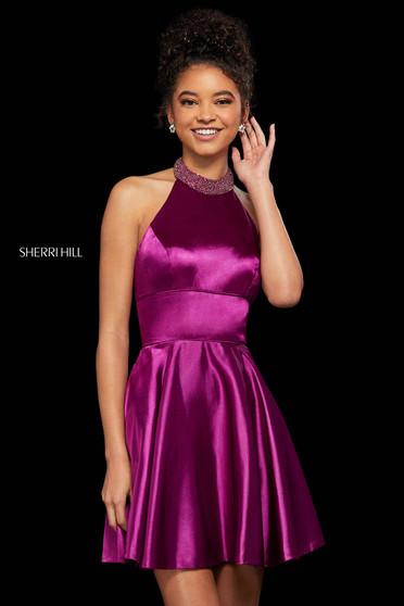 Rochie Sherri Hill 53079 plum