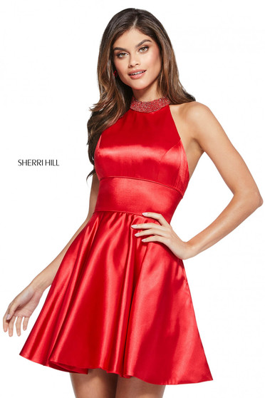Rochie Sherri Hill 53079 red
