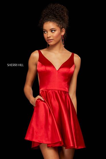Rochie Sherri Hill 53081 red