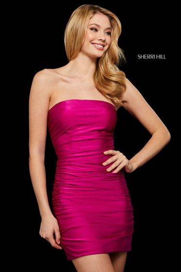 Rochie Sherri Hill 53083 berry