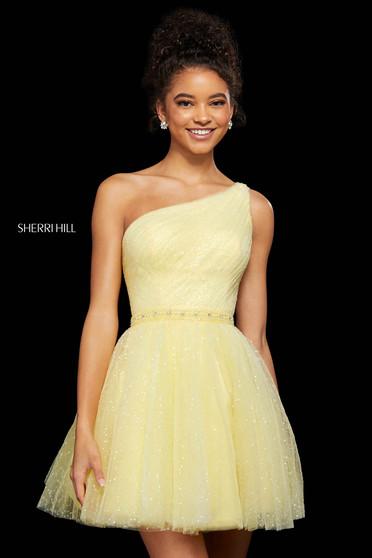 Rochie Sherri Hill 53086 yellow