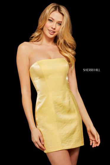 Rochie Sherri Hill 53087 yellow