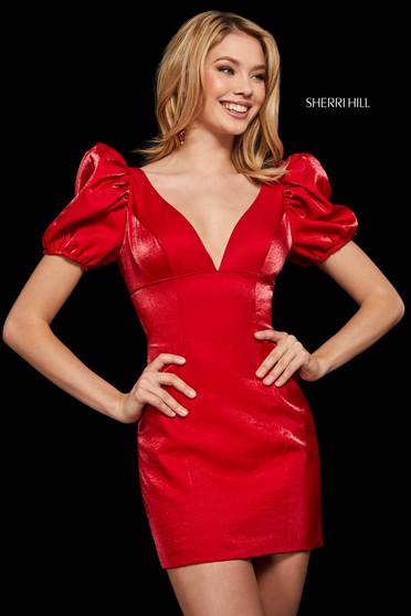 Rochie Sherri Hill 53088 red