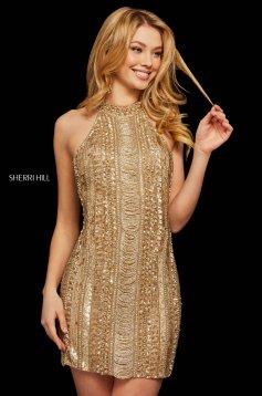 Rochie Sherri Hill 53092 gold