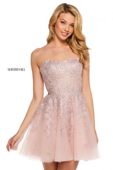 Rochie Sherri Hill 53099 blush