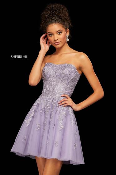 Rochie Sherri Hill 53099 lilac