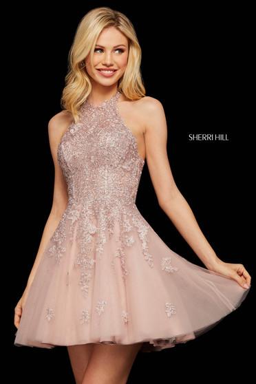 Rochie Sherri Hill 53100 blush