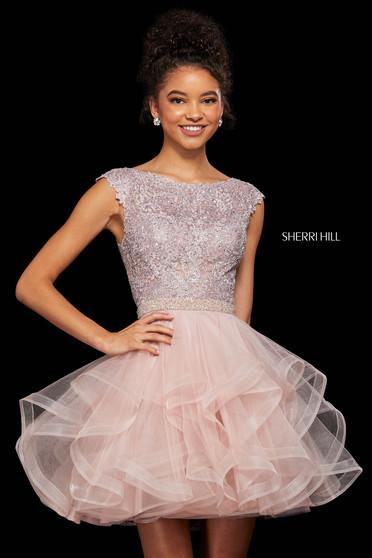 Rochie Sherri Hill 53109 blush
