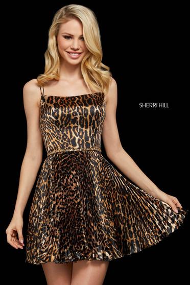 Rochie Sherri Hill 53112 animal print