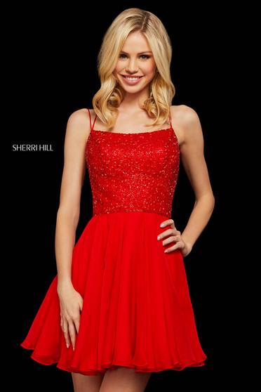 Rochie Sherri Hill 53113 red