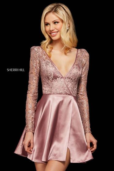 Rochie Sherri Hill 53114 rose