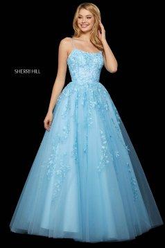 Rochie Sherri Hill 53116 light blue