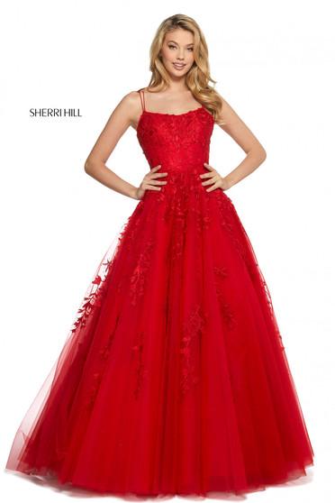 Rochie Sherri Hill 53116 red