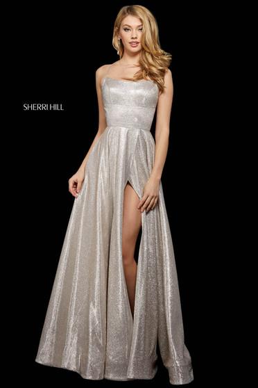 Rochie Sherri Hill 53118 nude/silver
