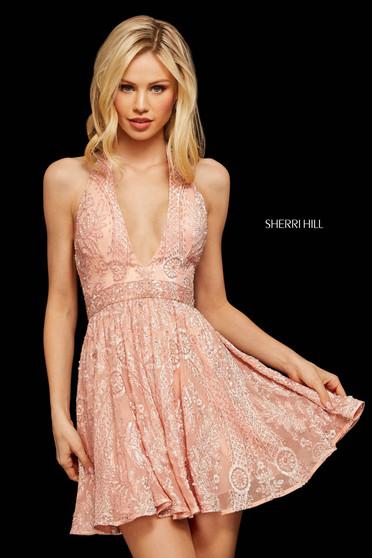 Rochie Sherri Hill 53125 blush