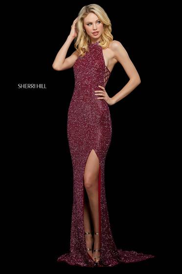 Rochie Sherri Hill 53131 berry
