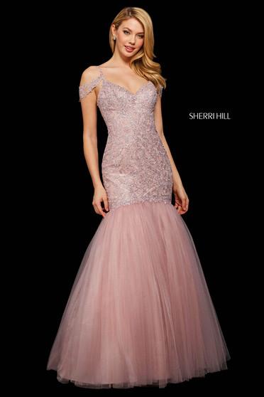 Rochie Sherri Hill 53140 blush