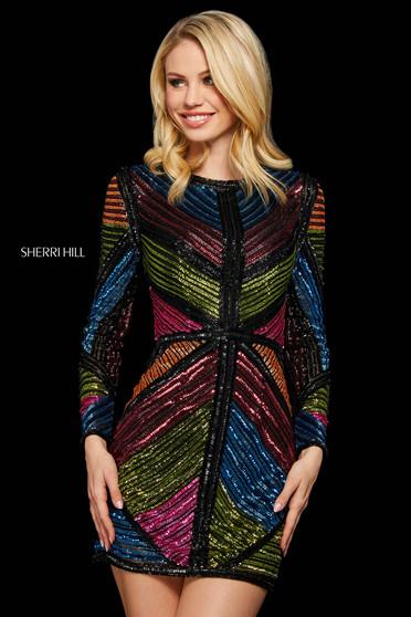 Rochie Sherri Hill 53150 black/multi