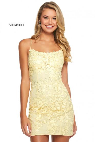 Rochie Sherri Hill 53151 yellow