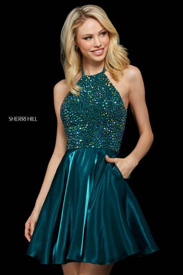 Rochie Sherri Hill 53154 emerald