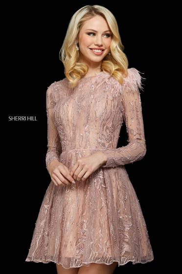 Rochie Sherri Hill 53163 blush