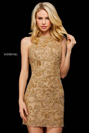 Rochie Sherri Hill 53171 gold